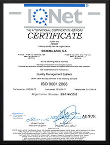 AZUD ISO质量认证